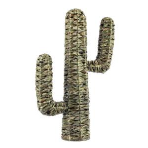 Decoratiune din iarba de mare verde model Cactus