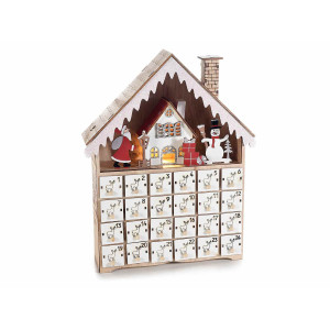 Calendar Advent model casuta cu led cm 23 cm x 6,5 cm x 29 H