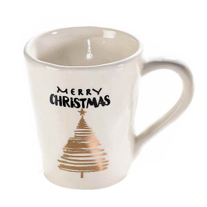 Cana ceramica model Brad Merry Christmas Ø 9 cm x 9 H 250 ml