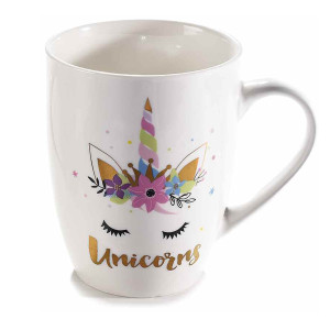 Cana portelan model Unicorns Ø 8 cm x 11 H  350 ml
