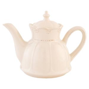 Ceainic din ceramica crem 23 cm x 14 cm x 17 h / 0.9 L