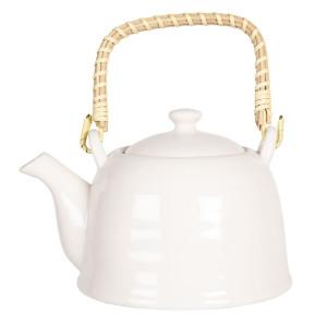 Ceainic din portelan alb 17 cm x 12 cm x 10 h / 0.6 L