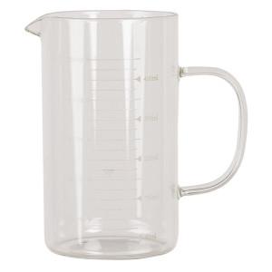 Carafa gradata din sticla transparenta 13 cm x 8 cm x 14 h