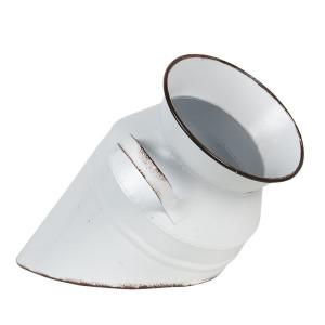 Vaza din metal alb negru Ø 17 cm x 30 h