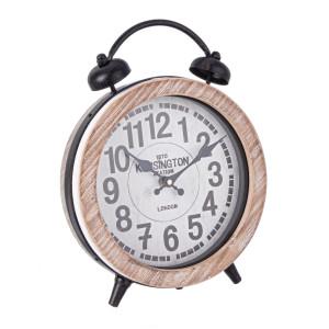 Ceas masa lemn natur cu suport metal negru Ticking 25.5 cm x 8 cm x 32 h