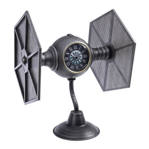 Ceas de masa din metal gri Space 36 cm x 33 cm x 44 h