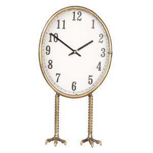 Ceas de masa din metal auriu 28 cm x 12 cm x 36 h