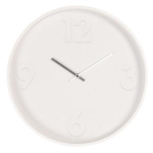 Ceas de perete din metal alb Ø 40 cm x 6 cm