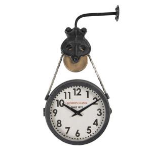 Ceas de perete din metal negru London 34 cm x 9 cm x 52 h