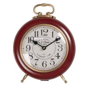 Ceas de masa din metal visiniu auriu 28 cm x 21 cm x 10 h