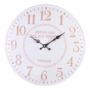 Ceas de perete din metal gri maro Ø 40 cm x 2.5 cm