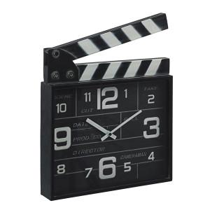 Ceas masa metal negru alb Charles Cinema 33 cm x 5 cm x 34 h