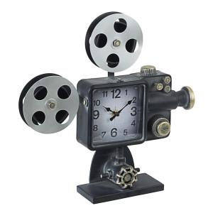 Ceas masa metal negru auriu argintiu Charles Cinema 39 cm x 8 cm x 38.5 h