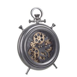 Ceas masa metal negru auriu Engrenage 28 cm x 7.5 cm x 39 h