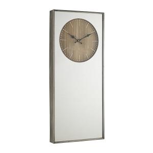Ceas perete lemn alb cu rama argintie Ticking 35 cm x 6 cm x 80 h