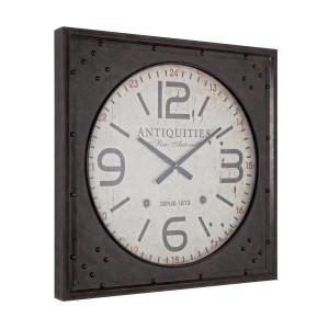 Ceas perete lemn negru Antiquities 80 cm x 7 cm x 80 cm