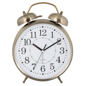 Ceas desteptator de masa metal auriu clasic Ø 23 cm x 30 cm