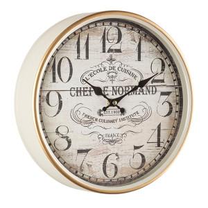 Ceas de perete alb auriu model Chef de Normand Ø 29 cm