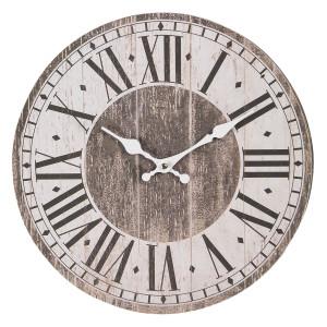 Ceas de perete din lemn maro Ø 34 cm x 4 cm