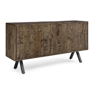 Comoda cu 3 usi din lemn maro Archer 160 cm x 40 cm x 85 h