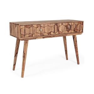 Consola 2 sertare din lemn maro Kant 113 cm x 40 cm x 77 h