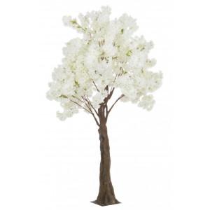 Copac decorativ cu flori artificiale Begonia alb H 240 cm x 150 cm