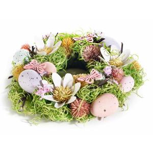 Coronita Paste decorata cu oua si flori Ø 24 cm