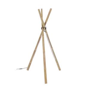 Lampadar bambus natur cu led Arusha 51 cm x 47 cm x 109 h