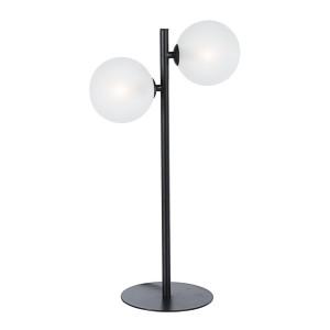 Veioza metal negru cu abajur alb Balls 31 cm x 17.5 cm x 54 h