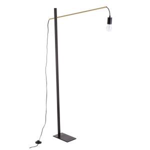 Lampadar fier auriu negru Carter 80 cm x 14.5 cm x 150 h