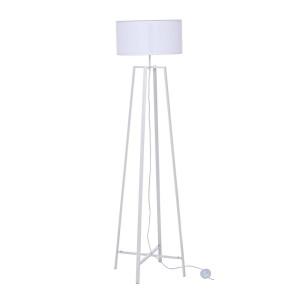 Lampadar fier cu abajur alb Mathis Ø 40 cm x 156 h