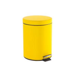 Cos de gunoi cu clapeta deschidere metal galben ø20 cm x28 h  5 L