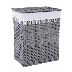 Cos rufe din polyester gri alb Gipsy 45 cm x 33 cm x 55 h