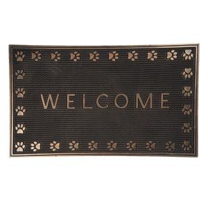 Covoras intrare casa antiderapant cauciuc maro Welcome 75 cm x 45 cm 1 h