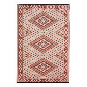 Covoras textil crem rosu Ethnic 150 cm x 120 cm