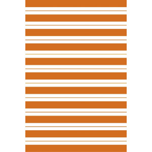 Covor polipropilena alb portocaliu Oristano 180 cm x 120 cm