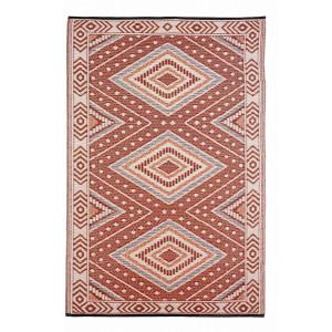Covoras textil rosu crem Ethnic 180 cm x 120 cm
