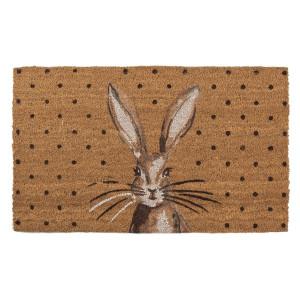 Covoras intrare casa antiderapant fibre cocos cauciuc Rabbit 75 cm x 45 cm x 1 h