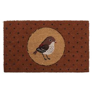 Covoras intrare casa antiderapant fibre cocos cauciuc Bird 75 cm x 45 cm x 1 h