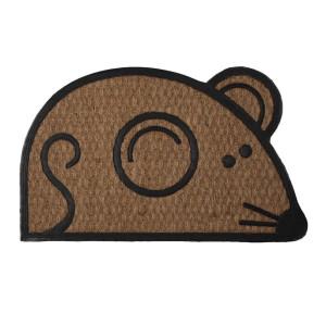 Covoras intrare casa antiderapant fibre cocos cauciuc Mouse 75 cm x 45 cm x 1 h