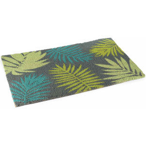 Covoras intrare casa antiderapant fibre cocos Leaf 60 cm x 40 cm
