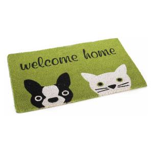 Covoras intrare casa antiderapant fibre cocos cauciuc Welcome Home 60 cm x 40 cm