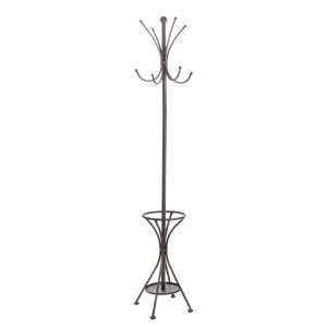 Cuier de pardoseala cu suport umbrele din fier gri antracit Charlotte 27 cm x 27 cm x 174 h