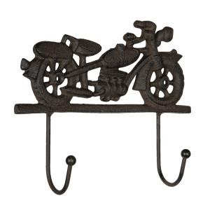 Cuier de perete din fier maro Motocicleta 20 cm x 5 cm x 17 h
