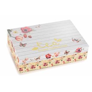 Cutie pentru ceai 6 compartimente din lemn Tea 24 cm x 16.5 cm x 6 h