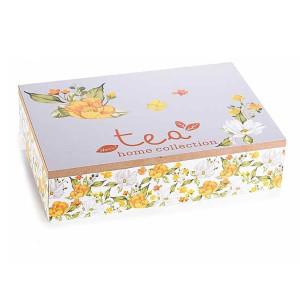 Cutie ceai lemn 6 compartimente Spring cm 24 x 17 cm x 6 h
