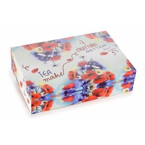 Cutie ceai lemn 6 compartimente Tea 24 cm x 16 cm x 6 h