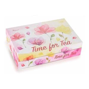 Cutie ceai lemn 6 compartimente Time for Tea 24 cm x 16 cm x 6 h