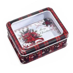Cutie din metal rosu model Ursulet 14x11x5 cm