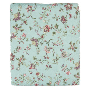 Cuvertura de pat din poliester matlasat decor Floral 220 cm x 140 cm